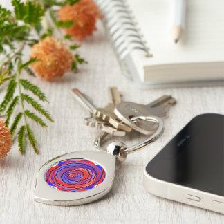 Porte-clés Spirale rouge et bleue par Kenneth Yoncich