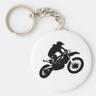 Porte-clés Sport blanc noir de Motorcyle de motocross d'art