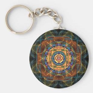 Porte-clés Sri Yantra - la géométrie sacrée