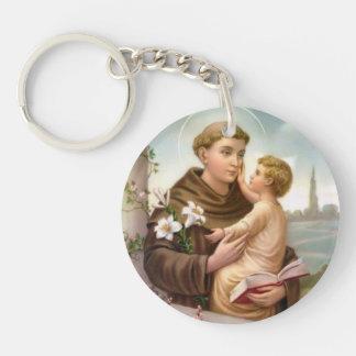 Porte-clés St Anthony de bébé Jésus de Padoue