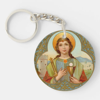 Porte-clés St Barbara (BK 001) de double image