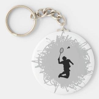 Porte-clés Style de griffonnage de badminton