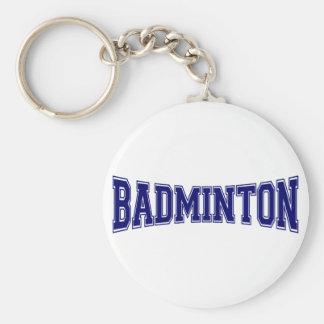 Porte-clés Style d'université de badminton