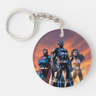Porte-clés Superman, Batman, et trinité de femme de merveille