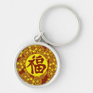 Porte-clés Symbole chinois de bonne chance