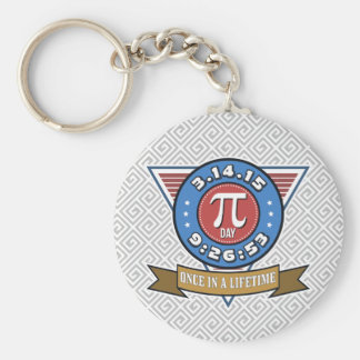 Porte-clés Symbole de jour de pi pour le porte - clé de