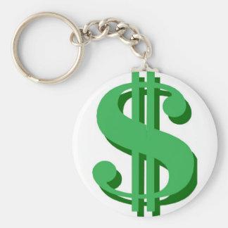 Porte-clés symbole dollar de $