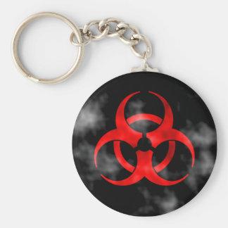 Porte-clés Symbole rouge de tabagisme de Biohazard