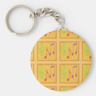 Porte-clés Symboles musicaux de danse