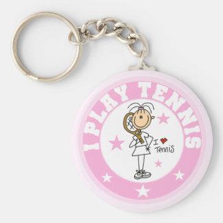 Porte-clés T-shirts et cadeaux de tennis de jeu de la fille I