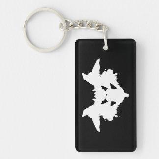 Porte-clés Tache d'encre de Rorschach