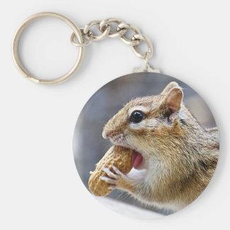 Porte-clés Tamia avec une arachide