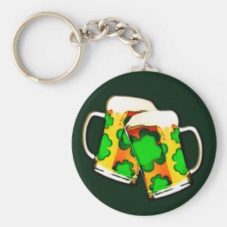 Porte-clés Tasses de bière du jour de St Patrick