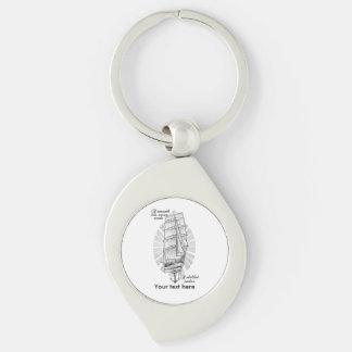 Porte-clés Tatouage de marins de bateau
