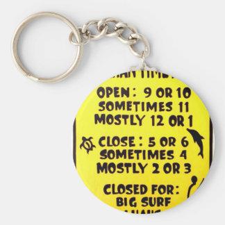 Porte-clés temps hawaïen