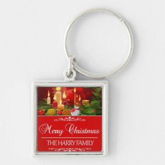 Porte-clés Tendre la conception de Noël de famille de Harry