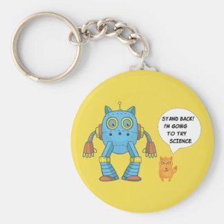 Porte-clés Tenez-vous retournant pour essayer le chat drôle