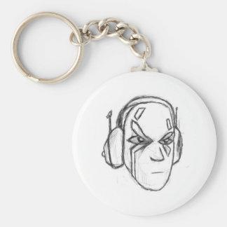 Porte-clés Tête d'écouteur