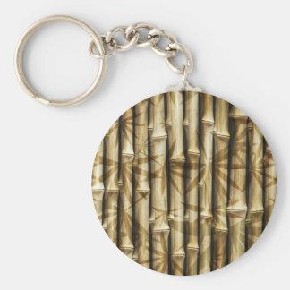 Porte-clés Texture en bois en bambou