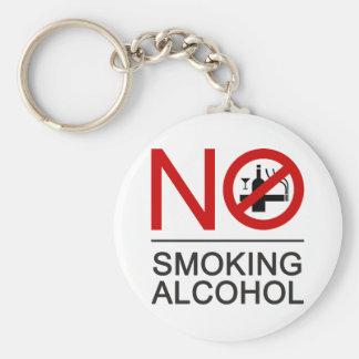 Porte-clés ⚠ thaïlandais de signe de ⚠ non-fumeurs d'alcool