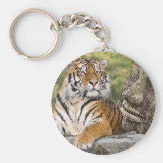 Porte-clés Tigre et temple bouddhiste