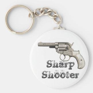 Porte-clés Tireur pointu d'arme à feu vintage ou tout nom