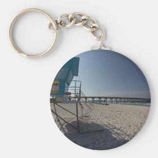 Porte-clés Tour de maître nageur au pilier de plage de Panamá