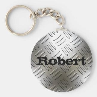 Porte-clés Tout nom sur le porte - clé de plat de diamant de
