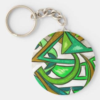 Porte-clés Travail de la géométrie - art abstrait