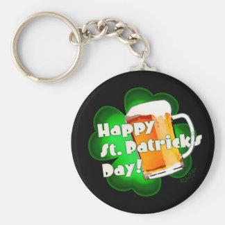 Porte-clés Trèfle et tasse du jour de St Patrick heureux