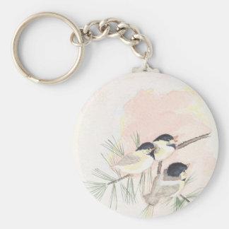 Porte-clés Trois oiseaux