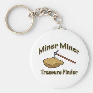 Porte-clés Trouveur de trésor de mineur de mineur