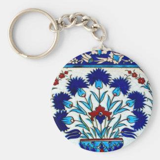 Porte-clés Tuiles turques abstraites florales antiques