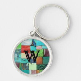 Porte-clés Turquoise multicolore de porte - clé de regard de