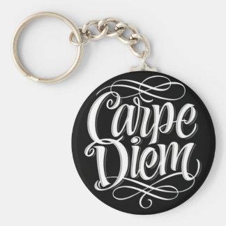 Porte-clés Typographie de motivation de Carpe Diem