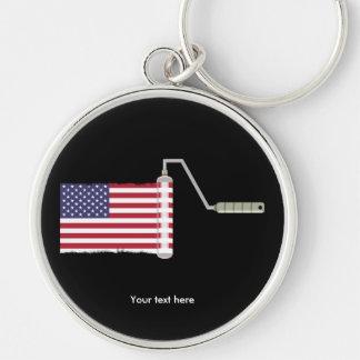 Porte-clés U.S.A. Rouleau de peinture de drapeau