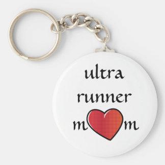 Porte-clés Ultra conception rouge de coeur de maman de