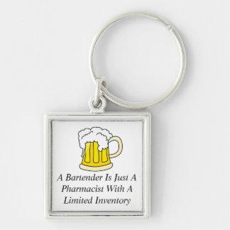 Porte-clés Un barman est juste un pharmacien