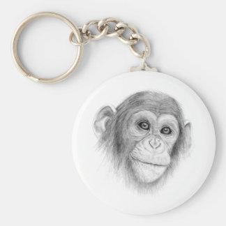 Porte-clés Un chimpanzé, pas monkeying autour le croquis