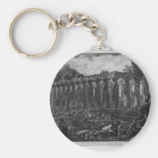 Porte-clés Une autre vue du temple dans la ville de Paestum,
