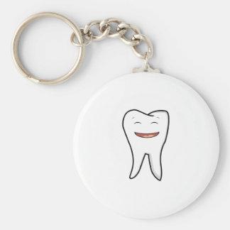 Porte-clés Une dent très heureuse