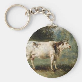 Porte-clés Une vache dans un paysage par Troyon constant