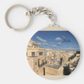 Porte-clés Une vue de La Valette, Malte par Sun, lune, et