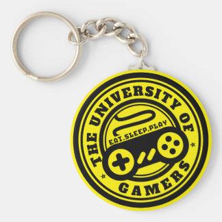 Porte-clés Université de porte - clé de jeu de logo de Gamers