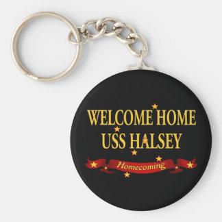 Porte-clés USS à la maison bienvenu Halsey