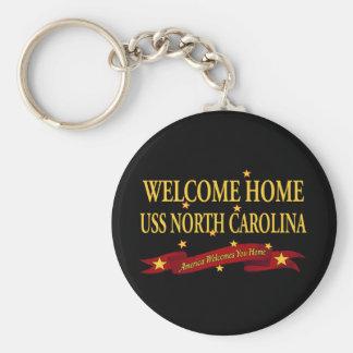 Porte-clés USS à la maison bienvenu la Caroline du Nord