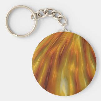 Porte-clés Vagues ambres métalliques de grain