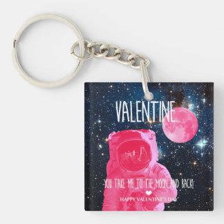 Porte-clés Valentine, vous me prenez à la lune et de retour !
