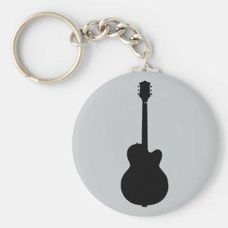 Porte-clés vecteur de guitare de roche