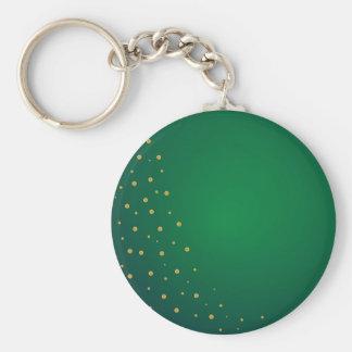 Porte-clés Vert et arrière - plan d'or